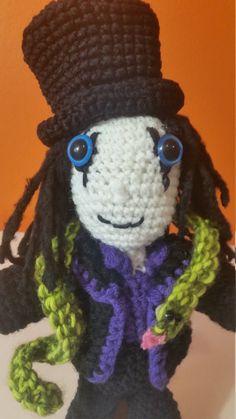 Crochet Alice Cooper Amigurumi Doll by HANDGroupStudiosCoe
