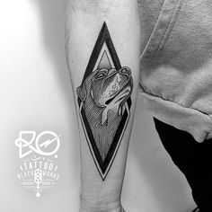 Black Works Tattoo By RO. Robert Pavez • #engraving #dotwork #etching #dot #linework #geometric #ro #black #dog