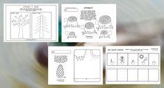 Pracovné listy - spoznávame prírodu, stromy, rastlinky, kvety...