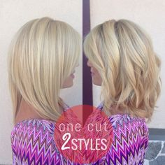 ONE CUT... TWO BEAUTIFUL STYLES - DO YOU PREFER THIS LONG BOB SLEEK OR TEXTURED? #hairbyhal