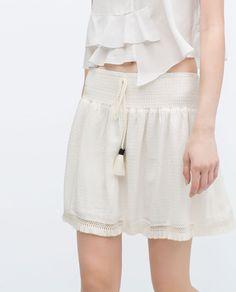 Image 3 of MINI SKIRT WITH TASSEL DETAIL from Zara