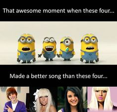 I hate when people do this. I get that some of these artists have haters but they make good music! That's why they have had so many hits and are so famous. Most of their singles are chart toppers and people all around the world listen to them. So basically by calling them bad singers you're saying more than half the world doesn't have a good taste in music? I'm sorry but I don't think anyone has the right to judge a persons music taste or call the singers they listen to stupid or bad.