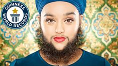 Youngest female with a fully grown beard - Meet the World Guinness Record Breakers