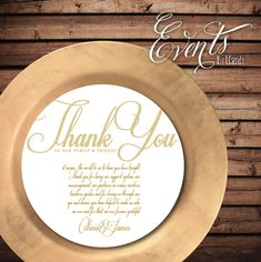 Gold & White Script Custom Printed Menus that by Eventsbyicandy