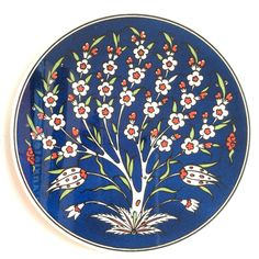 Ceramic Trivet with Tree of Life – ÇİNİ – Kinder Ceramic Coasters, Ceramic Plates, Ceramic Pottery, Bohemian Wall Tapestry, Ottoman Design, Museum Of Tolerance, Pottery Designs, Diy Wedding Decorations, Fabric Painting