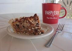Royer's Texas Trash Pie: 1 Cup of Chocolate Chips, 1 Cup of Crumbled Pretzels…with salt, duh! 1 Cup of Coconut Flakes, 1 Cup of Pecan Pieces, 1 Cup of Caramel BITS…omg these things are EVIL! 1 Cup of Crumbled Graham Crackers, 1 Stick of Melted Butta…who doesn't love Butta, 14 oz of Sweetened Condensed Milk -- toss that all togetha, throw it into a 10″ pie shell & bake at 350 for about 45 mins.
