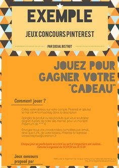 Exemple jeux concours Pinterest Marketing, Need To Know, Management, Social Media, Organiser, France, Playing For Keeps, Organization, Quizzes