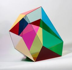 Gemma Smith acrylic 'Boulder' sculpture.