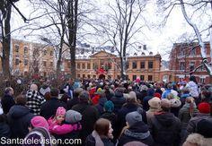 La déclaration de la paix de Noël à Turku au sud de la Finlande