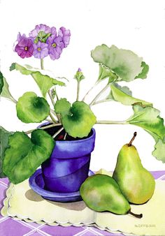 Suzanne Hull Wilson Fruit & Vegetable Watercolors
