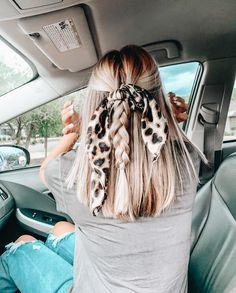 Scarf Hairstyles, Pretty Hairstyles, Summer Hairstyles, Teenage Hairstyles, Prom Hairstyles, Hairdos, Back To School Hairstyles Easy, Loose Braid Hairstyles, Cute Quick Hairstyles