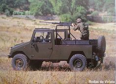 Portuguese Army UMM Alter II utility vehicle. The Alter II entered service in 1986