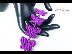 In this tutorial I show you how to make a butterfly macrame bracelet. Please feel free to give it a go yourself and I hope you enjoy. This is my original des...