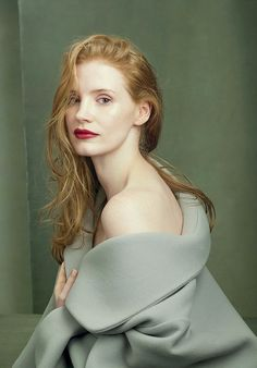 Jessica Chastain, photographed by Annie Leibovitz for Vogue US (August 2014)
