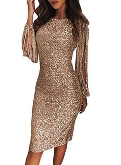 Robe en Dentelle Moulante Robe de Cocktail Moulante Taigood Robe en Dentelle /à Manches Longues pour Femmes asym/étrique