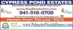 Patrick DeFeo II, Realtor has been selling homes in Manatee County Florida since 1997. With over 1200 transactions he will make yours a great one! http://www.palmettofloridahomes.com for Palmetto Florida Homes For Sale. http://www.buybradenton.com for the rest of Manatee County including Parrish Homes, Lakewood Ranch Homes, Bradenton Homes and Ellenton Homes.