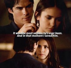 TVD 6x02 The moment Elena fell in love with Damon. Can't wait for them to fall in love all over again !