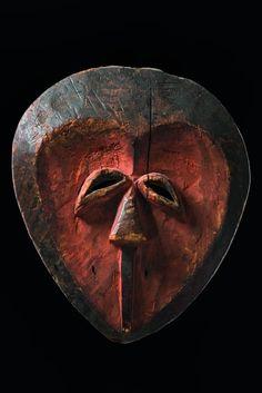 """Mask """"pibibuze"""", Gabon, Kwele"""