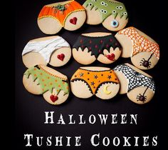 Cute tushie cookies