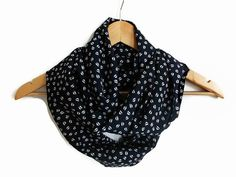 Kiss Infinity Scarf Navy Blue Lip Scarf  Gift Holiday by HeraScarf