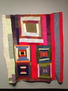 """housetop"" quilt by Lucy Pettway (circa 1955) posted by Laura Hutson at Nashville Scene"