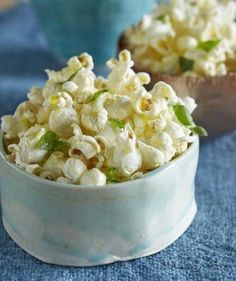 Your guests will love these sweet and savory upgrades to this movie theater classic. All recipes serve four to six people. Popcorn Toppings, Butter Popcorn, Flavored Popcorn, Popcorn Recipes, Snack Recipes, Cooking Recipes, Popcorn Seasoning, Gourmet Popcorn, Appetizer Recipes