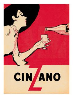 """Cinzano vermouth made with giclée (French for """"to spray"""") is a printing process where millions of ink droplets are sprayed onto the paper's surface."""
