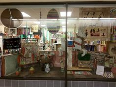 """Another great window display to celebrate Easter and Spring at """"The Sewing Cottage"""" Martell, CA"""