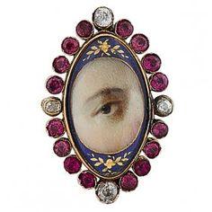 Lover's Eye 19th century brooch : Lot 18