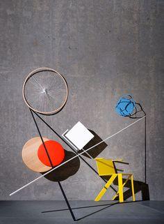 Bauhaus for Wallpaper Magazine, 2011. Set design by Sarah Illenberger, photography by Milo Keller & Julien Gallico.
