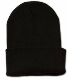 a0900b05233 Blank Long Cuff Beanie Cap (Choose Many Colors Available) · Winter TopsWinter  Hats For WomenBaseball ...