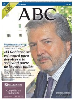 La portada de ABC del domingo 26 de julio