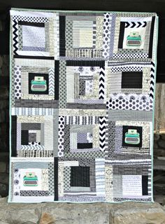 Any literary buff will go nuts for this Typography Quilt from Maureen Cracknell! She even shows how to use the text features on your machine (she uses Janome Horizon Memory Craft 12000) to create a full block of text from your favorite novel!