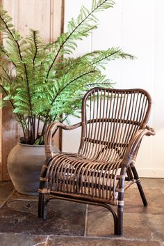 Rattan furniture combined with greenery is the perfect combination for any garden room.