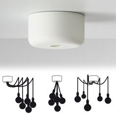 This multiple canopy by Muuto is a ceiling rose for the installation of multiple Muuto socket lamps. Living Room Lighting, Kitchen Lighting, Ceiling Rose, Ceiling Lights, Ceiling Canopy, Luminaria Diy, Diy Luminaire, Home Living, Spotlight