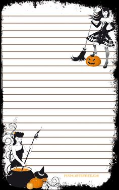 Free Halloween stationery printable                              …