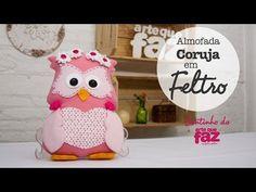 DIY - Almofada Coruja em feltro (Thais Padella) - YouTube