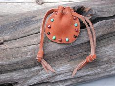 Leather Pouch Bag  Native American   Spirit by Shirlbcreationstoo, $18.00
