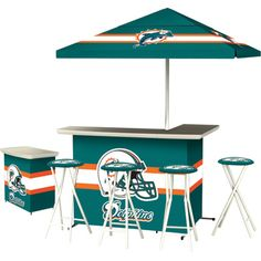 Miami Dolphins Deluxe Portable Bar Set — Dominate the Tailgate