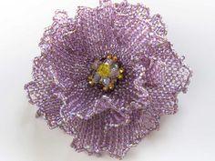 キラキラバイオレットビーズコサージュ - Sparkling violet beads corsage