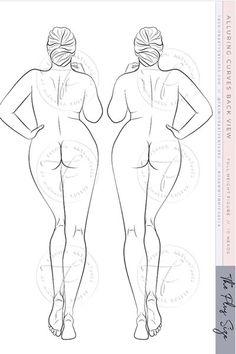 Fashion Sketch Template, Fashion Figure Templates, Fashion Model Sketch, Fashion Design Template, Fashion Design Sketches, Fashion Figure Drawing, Croquis Fashion, Drawing Female Body, Plus Size Art