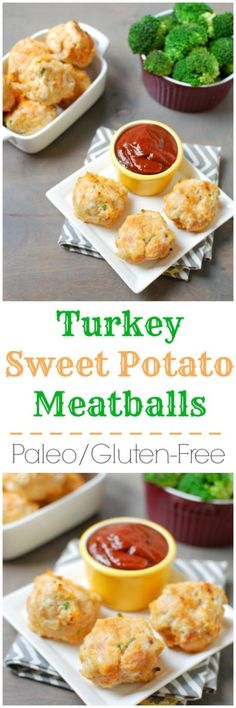 This recipe for Paleo Turkey Sweet Potato Meatballs are spicy ...