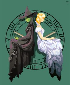 Elphaba and Glinda by ylee0730.deviantart.com on @DeviantArt
