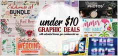 Quality graphic bundle deals with extended license (commercial use) for under $10 -
