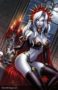 Lady Death: Shimmer #1 by Dawn-McTeigue.deviantart.com on @deviantART
