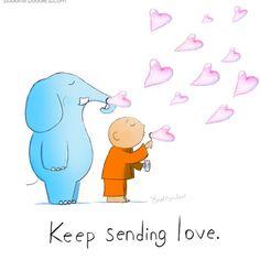 Keep sending love. Tiny Buddha, Little Buddha, Buddha Quotes Love, Buddha Sayings, Buddah Doodles, Reiki, Buddhist Quotes, Spiritual Life, Spiritual People