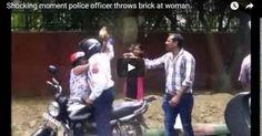 #HeyUnik  Tolak Bayar Suap, Wanita Ini Dilempar Batu Bata Sama Polisi #Video #YangUnikEmangAsyik
