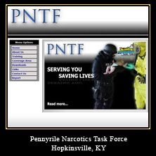 My Web Design Clients: Pennyrile Narcotics Task Force. Hopkinsville, Kentucky.
