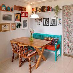Cantinho boho kitchen, kitchen decor, kitchen ideas, indian home decor, s. Interior Design Living Room, Living Room Decor, Bedroom Decor, Indian Home Decor, Home Kitchens, Home Goods, Sweet Home, New Homes, House Styles