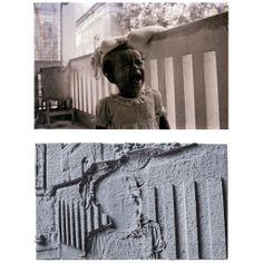 Naeem Mohaiemen, Rankin Street, 1953 (1), 2012, Archival print on paper, sandstone molds, Prints: 13.3 x 20 cm each, Mold: 12.7 x 8.25 x 10 cm.